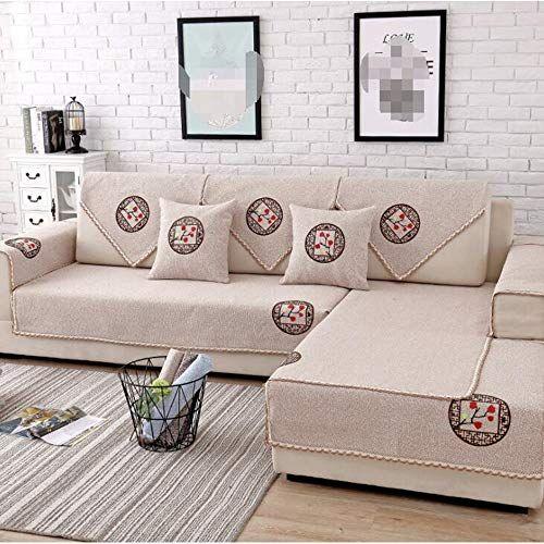 Smallsun Sofa Covers Base Cotton And Linen Sofa Cushion Four