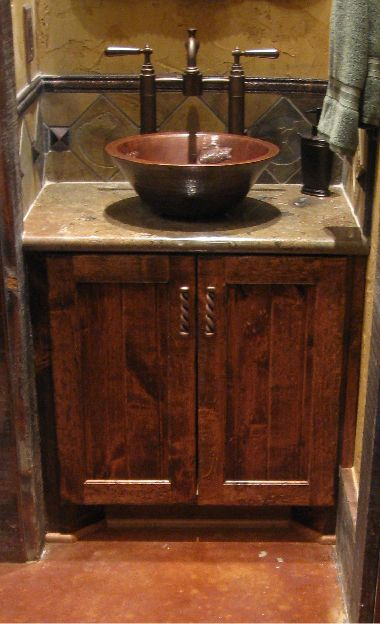 Distressed Knotty Alder Cabinets Share Photos Project Gallery Bathroom Vanity For The Home