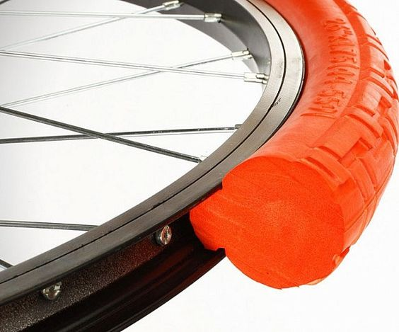 Say goodbye to flat tires for good by swapping your standard wheels for these never flat bicycle tires. Rather than rely on air, these new tires are made from a solid material equivalent to 100 psi while providing incredible grip and extremely low rolling resistance.