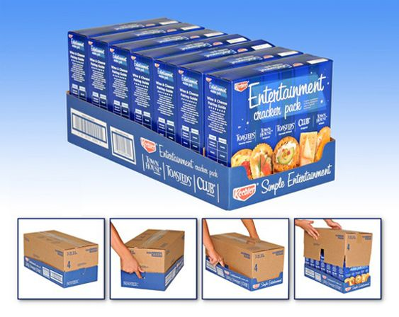 Retail Ready Packaging Combining a shipping container with a point of purchase display.