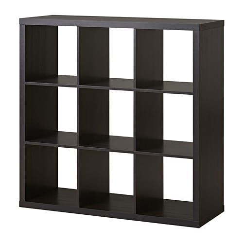 Kallax Shelf Unit Black Brown 44 1 8x44 1 8 Cube Storage Bookcase Storage Vinyl Storage