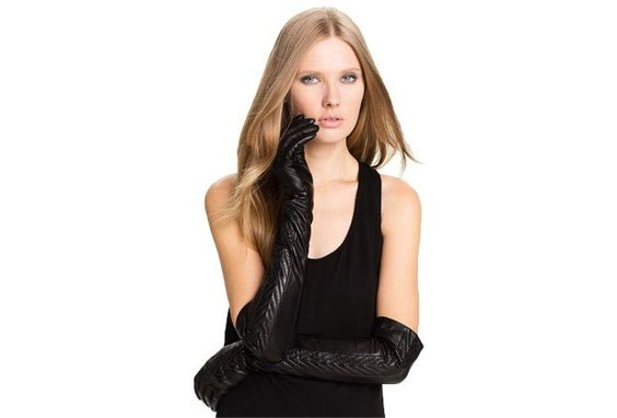 Opera length Black Leather Gloves : Lucky Magazine