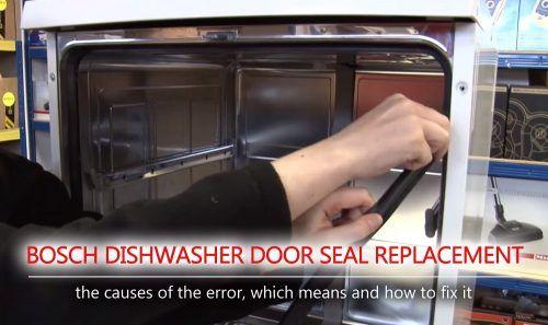 Bosch Dishwasher Door Seal Replacement Door Seals Bosch Dishwashers Bosch