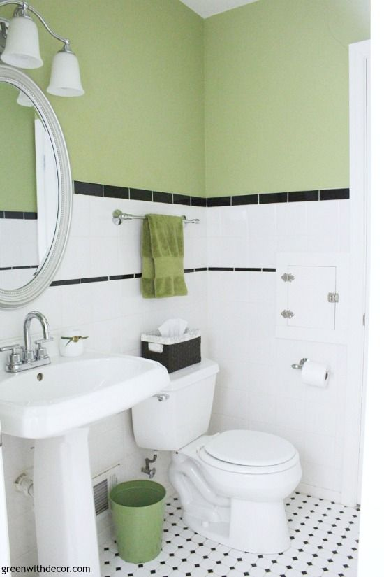 Where To Start When Decorating A Whole House Green With Decor Small Bathroom Makeover Farmhouse Style Bathroom Decor Bathroom Lighting Design