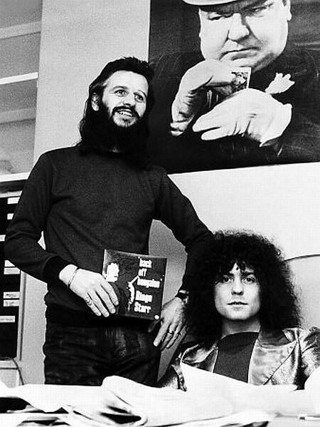 Ringo Starr and Marc Bolan: