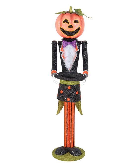 Look what I found on #zulily! Pumpkin Head Butler Décor by C & F #zulilyfinds