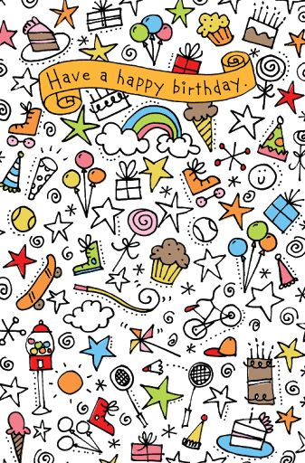 simple doodle ideas birthday doodle design for american