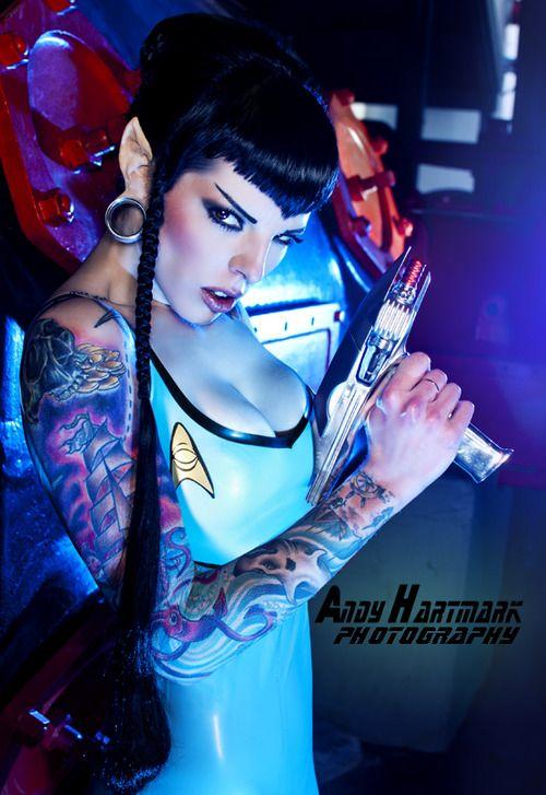 #StarTrek #Vulcan #Cosplay: Star Trek Tattoos, Beautiful Costumes, Cosplay Startrek, Photoshoot Cosplays, Startrek Vulcan, Vulcan Cosplay, Starfleet Vulcan, Costumes Cosplay Halloween