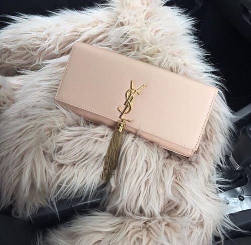 yve saint laurent purse - fake fur vest yves saint laurent purse clutch handbag pastel pink ...