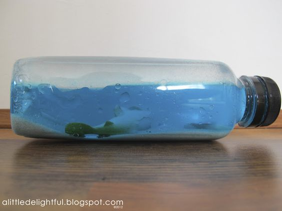 Beach In A Bottle Water Baby Oil Food Coloring Glue