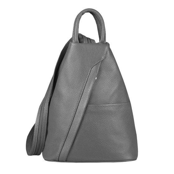 Made in Italy Damen echt Leder Rucksack Backpack