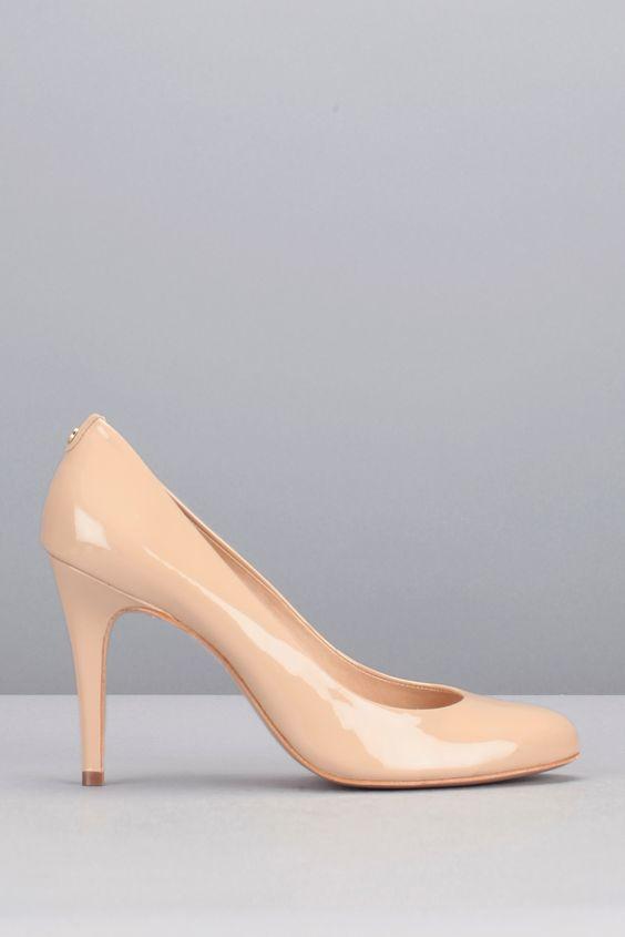 Escarpins nude cuir vernis Jelissa Rose Cosmoparis sur MonShowroom.com