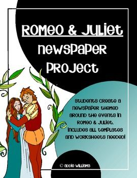 Romeo and juliet newspaper project