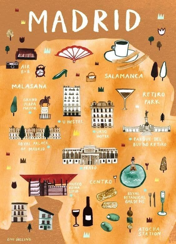 19 Mapas Que Te Ensenaran Un Madrid Muy Diferente Madrid Travel