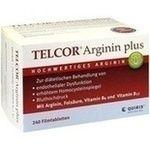TELCOR Arginin plus Filmtabletten:   Packungsinhalt: 240 St Filmtabletten PZN: 03104757 Hersteller: Quiris Healthcare GmbH & Co. KG…
