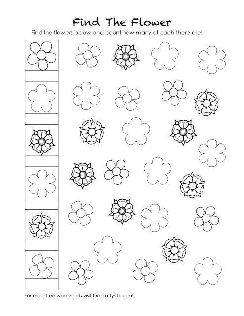 The Crafty Ot Visual Discrimination Worksheets Visual Discrimination Visual Discrimination Activities Visual discrimination worksheets for adults