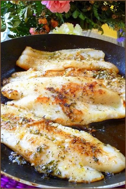 LOW-CARBING AMONG FRIENDS: SEA BASS IN GARLIC BUTTER SAUCE