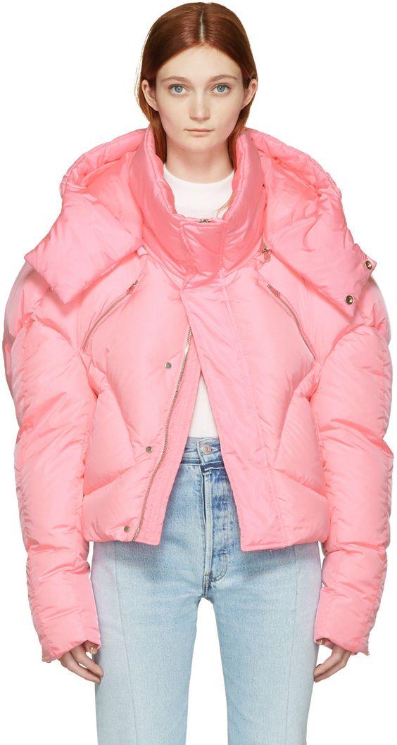Chen Peng - Pink Down Jacket | ispirazione | Pinterest | Jackets ...