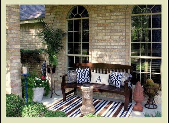 My little front porch that I revamped for $50.00
