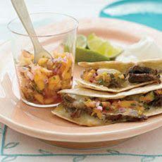 Steak Quesadillas with Hot Peach Salsa II Recipe