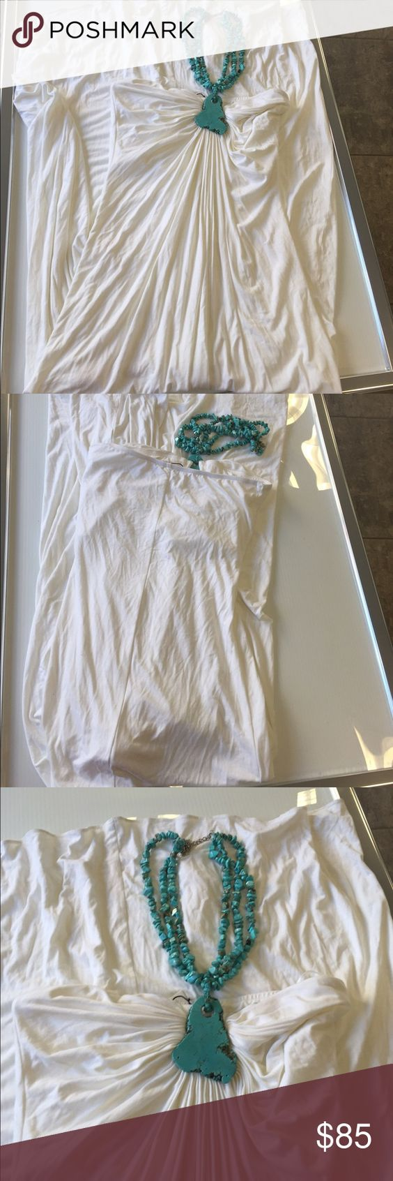 Sky white stone detail maxi summer dress large new Sky white stone detail maxi summer dress size large new without tags please note the bottom hem  is  a little dirty from being tried  on and handled in store please see pictures might need to be washed before using Sky Dresses Maxi