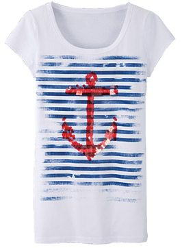 I find nautical very hard to resist. Especially when it comes in the form of a very comfy looking t-shirt.