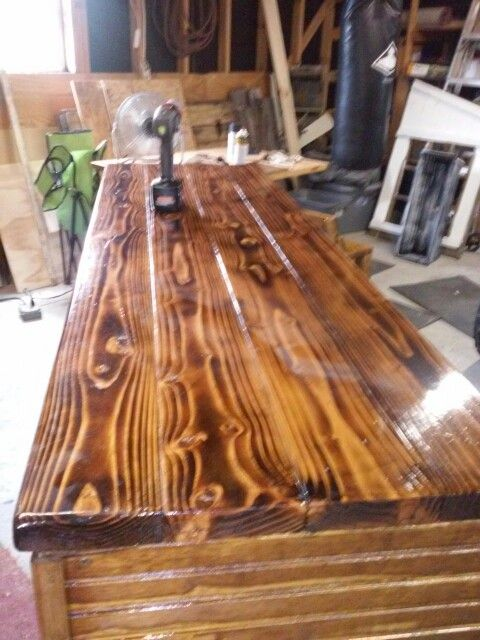 Burnt Pine Bar Top Gina Lasala Pinterest Tops Bar