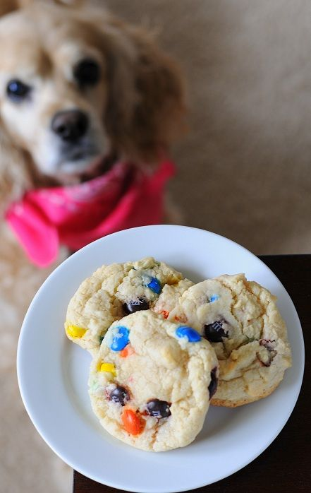 Chewy M & M Sugar Cookies