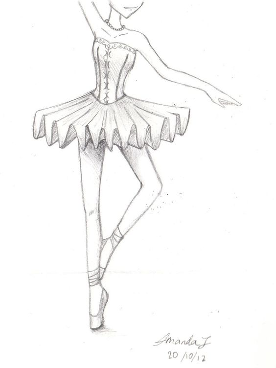 Easy Ballet Dancer Drawing - Learn to dance at BalletForAdults.com!