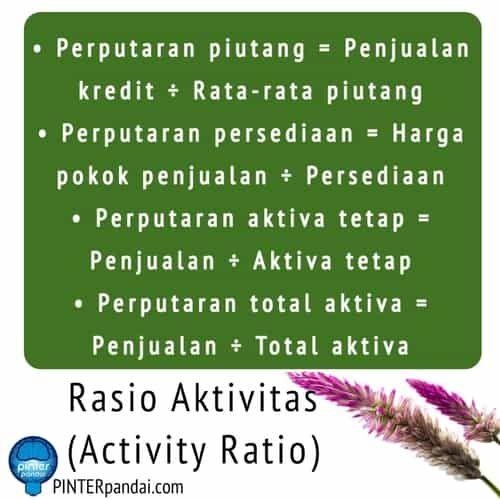 Rasio Aktivitas Activity Ratio Akuntansi Rumus Soal Jawaban Akuntansi Harga Pokok Penjualan Matematika