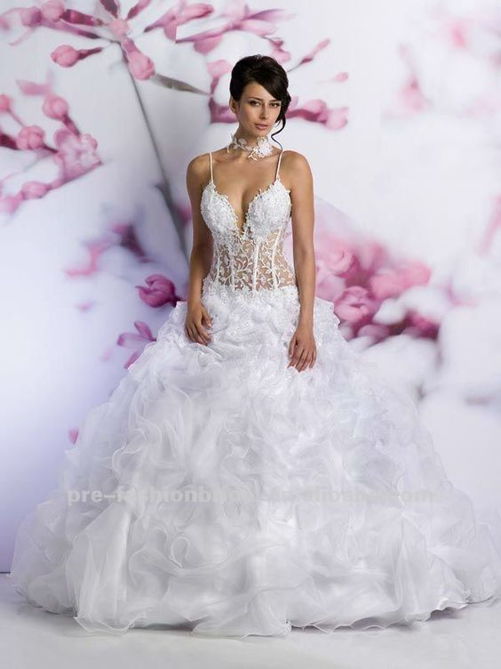 Corset wedding dresses see through and corsets on pinterest for See through corset top wedding dress