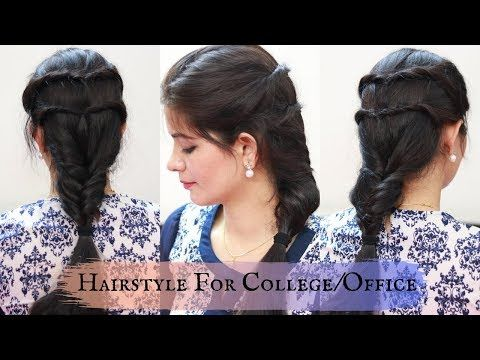 Unseen Braided Hairstyle 2019 Hairstyle For Kurti Fishtail Braided Hairstyle For College O Braided Hairstyles Fishtail Braid Hairstyles College Hairstyles