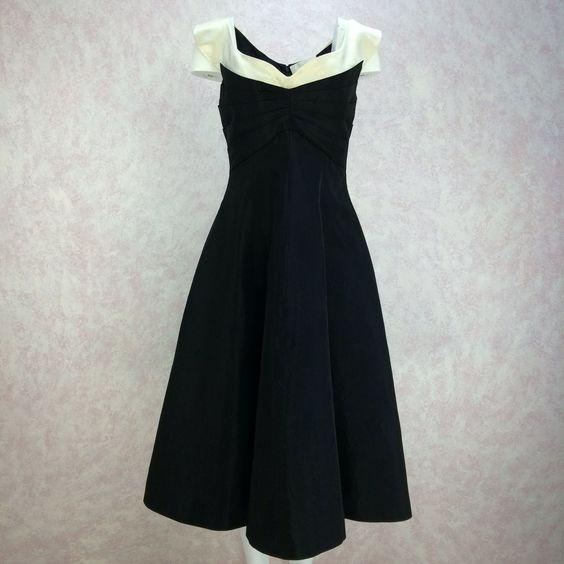 2000s BECCARIA Taffeta Fit & Flair Dress, NOS