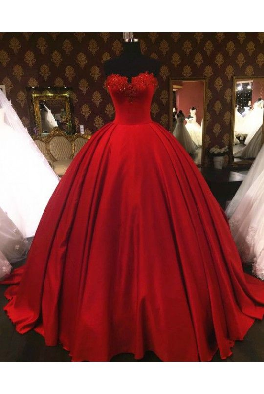 Ball Gown Lace Red Lace Red Okdr06081222 Red Wedding Dresses