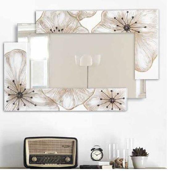 Espejos artisticos espejos decorados espejos pinterest for Espejos ovalados decorados
