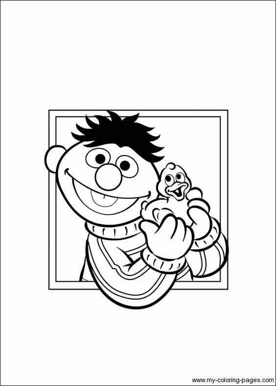 bert ernie coloring pages - photo#11