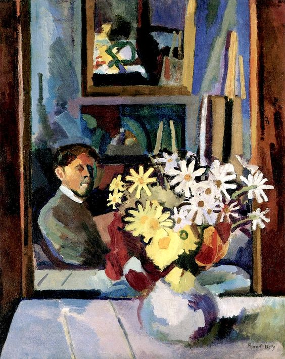 Self-Portrait with Flowers, 1907. André Derain (French,1880 – 1954) was a artist, painter, sculptor and co-founder of Fauvism with Henri Matisse.