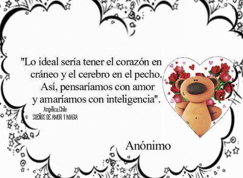 SUEÑOS DE AMOR Y MAGIA: Lo ideal seria.