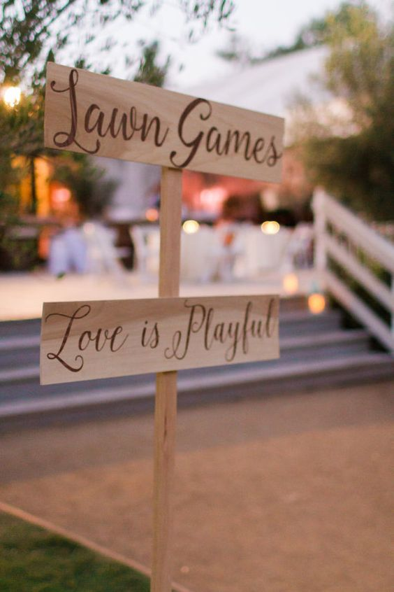 Wood Signs Lawn Games by WoodenTreeBoutique on Etsy: