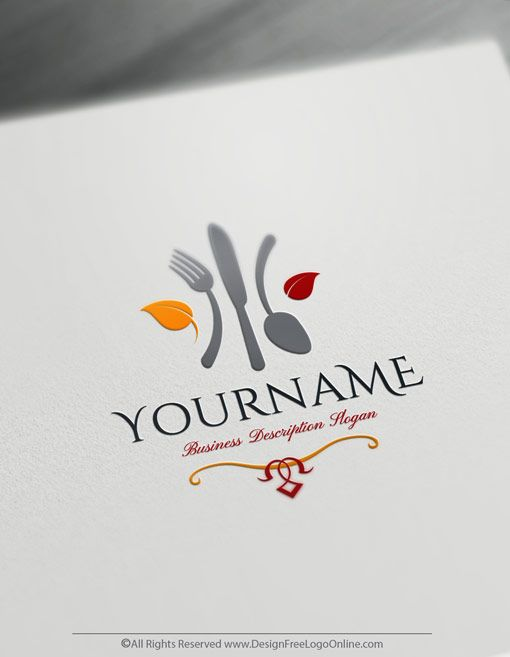 Free Food Logo Maker Online Restaurant Logo Template Design Makanan