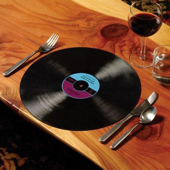 Manteles Disco Vinilo - Cocina - El Capricho Original - Regalos Originales y Divertidos - Hogar, Hombre, Mujer, Niño, Niña - Accesorios iPhone, iPad - Regalo Original en España