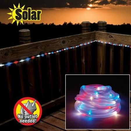 Solar Powered Led String Lights Red : Red white blue, The o jays and Be cool on Pinterest