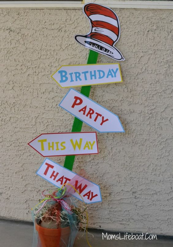 Dr Seuss Birthday Party Ideas - Decorations and Games - MomsLifeboat