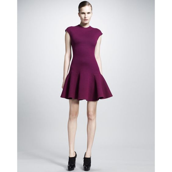 Gorgeous! Women's Lanvin Fitted Drop-Waist Dress ($894) ❤ liked on Polyvore