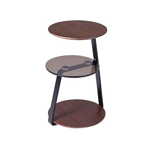 L Life End Tables Side Table Nordic Simple Side Corner Sofa Table Creative Walnut Round Three Story Sofa Soli Coffee Table Corner Sofa Table Small Coffee Table