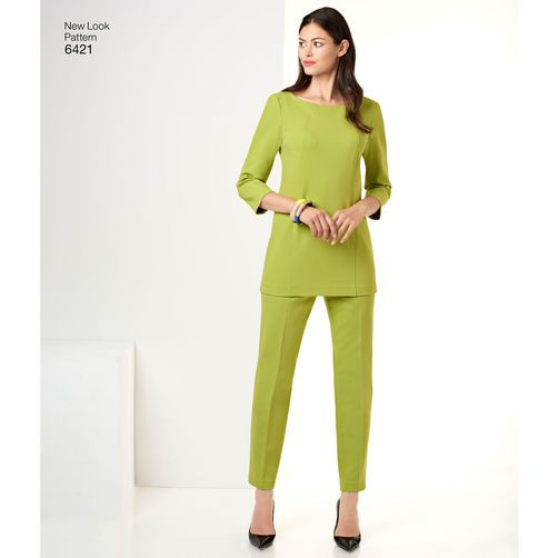 New Look Pattern 6421 Misses' Tunic, Pants and Skirt