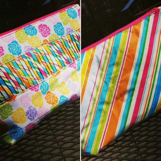 My quilted makeup bag
