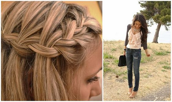 this is my new favorite, the waterfall braid :)