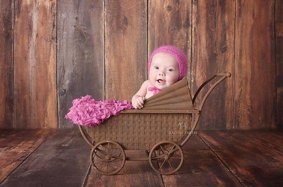 Baby Bonnet Lace Bonnet Silk Mohair Lace by SweetnessInSmyrna,