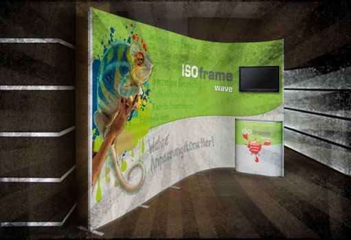 ISOframe zeigt dir, was wahre Verwandlungskunst ist!  http://www.medienkraftwerk.de/mobile-messestaende/mobile-messestaende/isoframe-wave-messestand/isoframe-kombi-set-2-mini.html